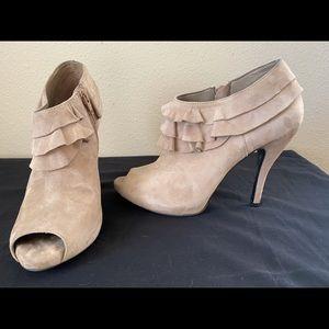 Gianni Bini Shoes - -Like New- Gianni Bini Suede Ruffle Booties
